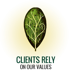 Clients Rely On Our Values.